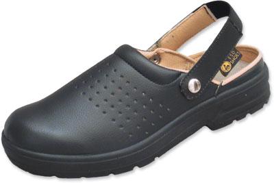 AE103 - ESD Shoes, Airing-Clog, black